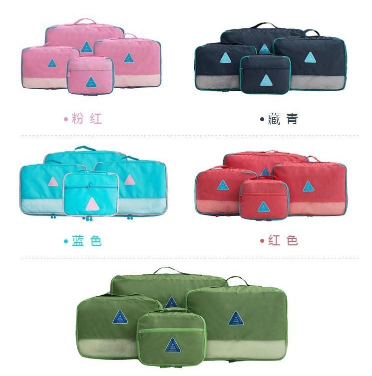 Combo 4 Túi Happy Travel chống thấm sắp xếp vali ngăn nấp 1