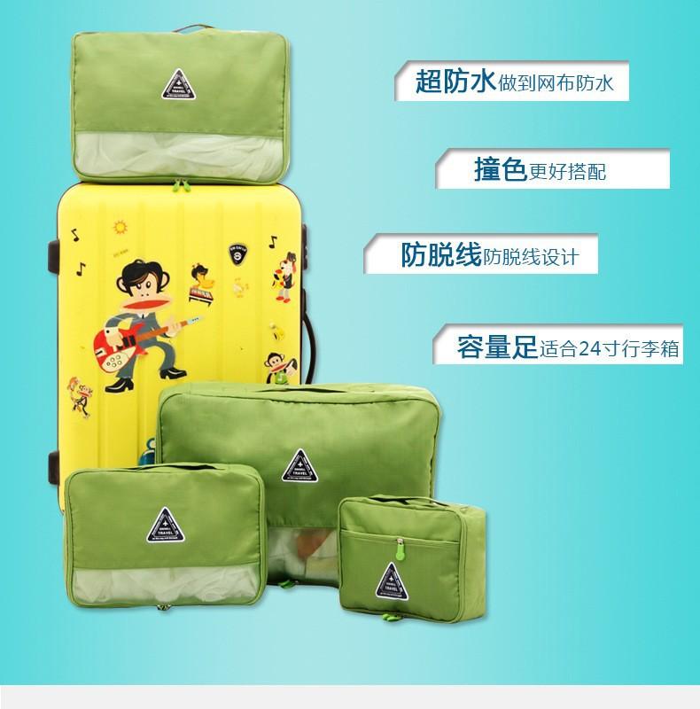 Combo 4 Túi Happy Travel chống thấm sắp xếp vali ngăn nấp 9