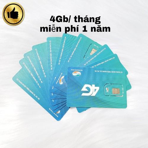 Sim 4G viettel trọn gói 1 năm D500 4Gb tháng
