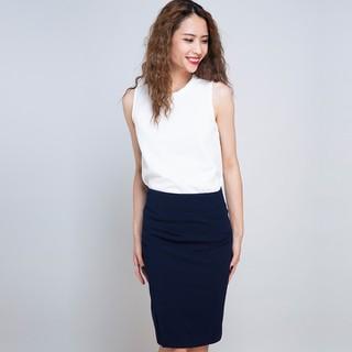 Váy Bút Chì Ôm Xẻ Trước Hity SKI024 Xanh Navy - SKI024-XANH NAVY thumbnail