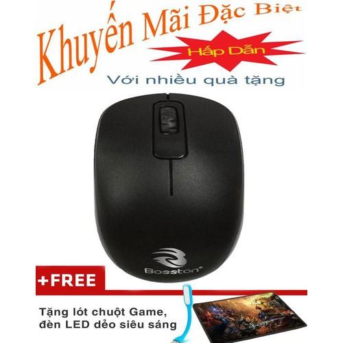 chuột máy tính Mouse Bosston X13 USB Tặng Lót Chuột, Đèn Led