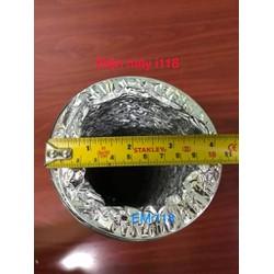 Ống  gió bạc mềm không bảo ôn đường kính D100 mm - D105 mm
