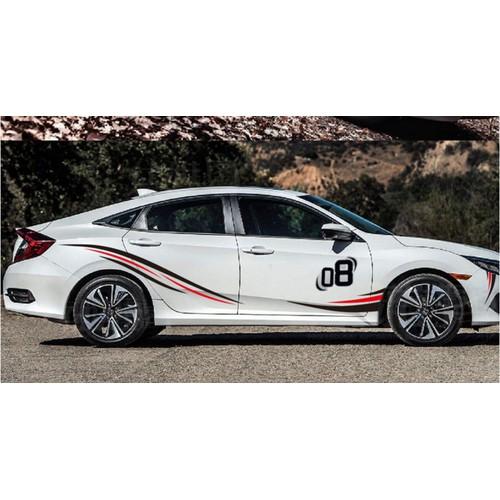 Tem xe ô tô phong cách thể thao TS054