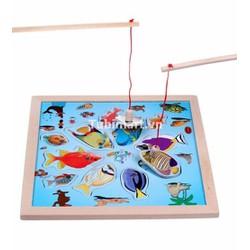 Đồ chơi câu cá nam châm bằng gỗ cho bé