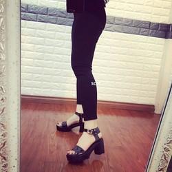 Giày sandal đế thô 1 quai hỡ gót | giày sandal nữ cao gót
