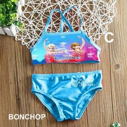 Đồ bơi 2 mảnh Elsa cho bé 5-8 tuổi