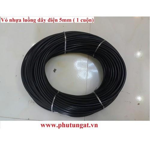 Vỏ nhựa chống trầy luồng dây điện 5mm - nguyên cuộn