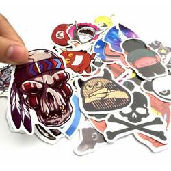 Combo 100 Miếng Sticker Trang Trí Mũ Bảo Hiểm - Laptop - Điện Thoai