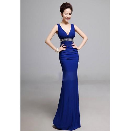 Đầm dạ hội đính hạt đá