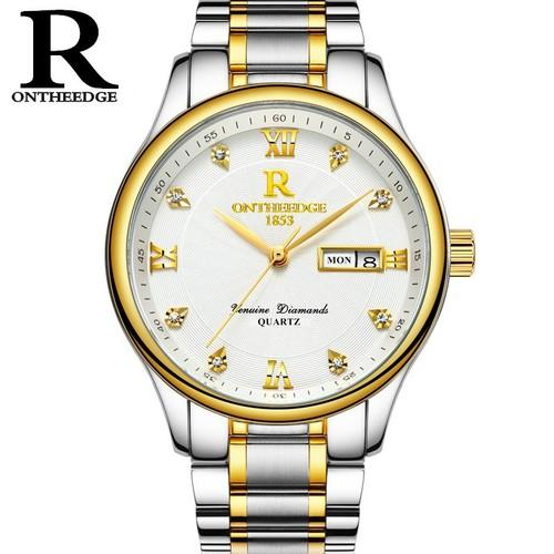 Đồng hồ nam R ONTHEEDGE 1853 dây thép chính hãng 3 kim 1 lịch - 5674310 , 9591532 , 15_9591532 , 350000 , Dong-ho-nam-R-ONTHEEDGE-1853-day-thep-chinh-hang-3-kim-1-lich-15_9591532 , sendo.vn , Đồng hồ nam R ONTHEEDGE 1853 dây thép chính hãng 3 kim 1 lịch