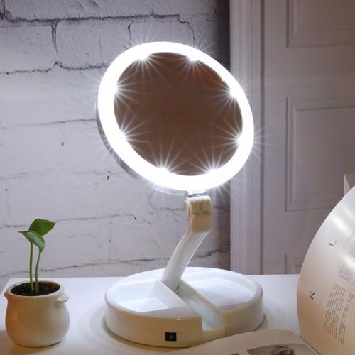 Gương trang điểm để bàn gấp gọn có đèn LED - 5016103 , 9588670 , 15_9588670 , 155000 , Guong-trang-diem-de-ban-gap-gon-co-den-LED-15_9588670 , sendo.vn , Gương trang điểm để bàn gấp gọn có đèn LED