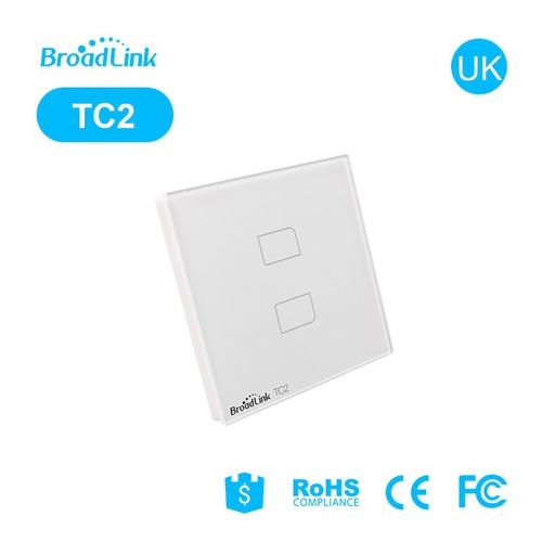 Công tắc cảm ứng điều khiển từ xa Broad Link TC2 - 2 phím Smart Home