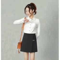 Quần Giả Váy Vạt Xéo Phối Xếp Ly - CV13