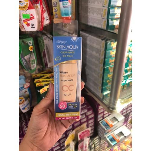 chống nắng dưỡng da và trang điểm nhẹ Sunplay Skin Aqua