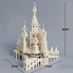 Đồ chơi lắp ráp gỗ 3D Mô hình Lâu đài băng Saint Petersburg