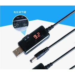 Cáp chuyển đổi điện áp từ cổng USB 5V sang 9V 12V