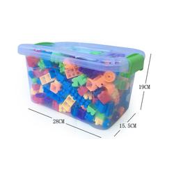 Đồ chơi giáo dục khối lắp ghép bằng nhựa  -AL 286 Chi tiết + Hộp nhựa