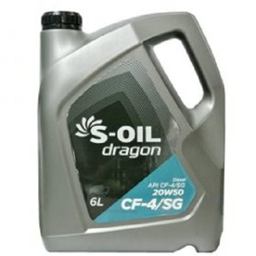 Nhớt động cơ xe ô tô S-Oil DRAGON 20W-50 API CF-4 6L