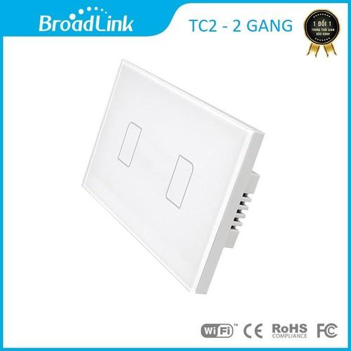Công tắc cảm ứng điều khiển từ xa Broad link TC2 chữ nhật - 2 phím