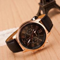 Geneva dây da- đồng hồ giá rẻ