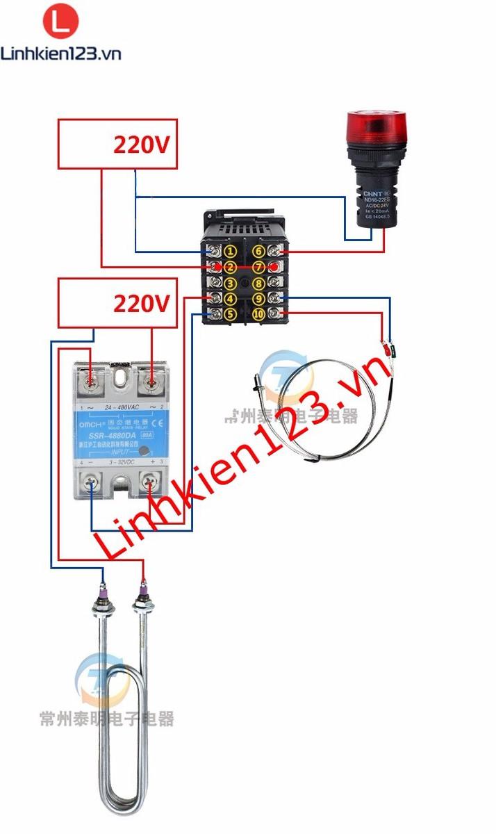 Bộ điều khiển nhiệt độ RKC REX C900 tặng đầu dò nhiệt độ 4