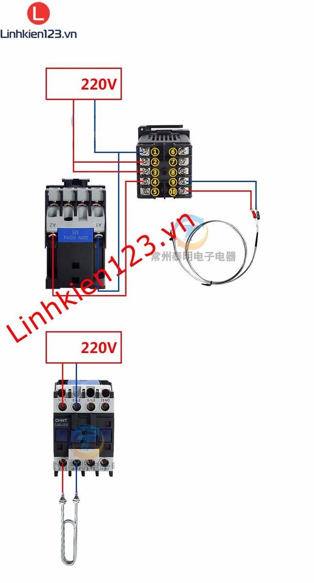 Bộ điều khiển nhiệt độ RKC REX C900 tặng đầu dò nhiệt độ 3