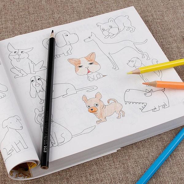 Bộ sách tô màu 5000 tranh kèm hộp bút màu cho bé siêu hot 1