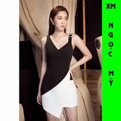Đầm Body Mimi Phối Màu