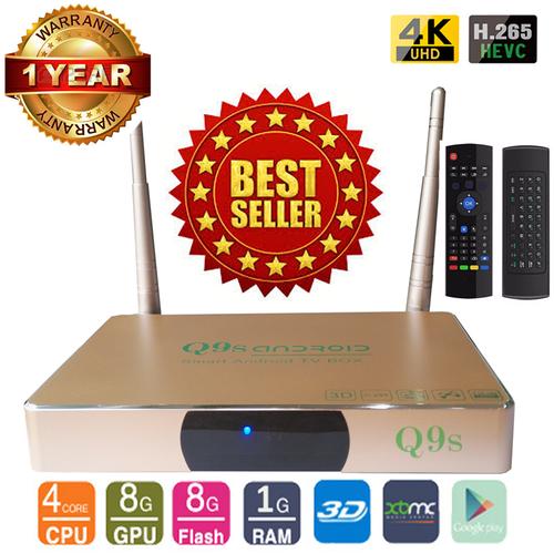 Android Tivi Box Ultra HD Q9s kèm Chuột Bay Kiêm Điều Khiển KM800