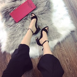 Giày sandal cao gót nữ phối đá cực đẹp