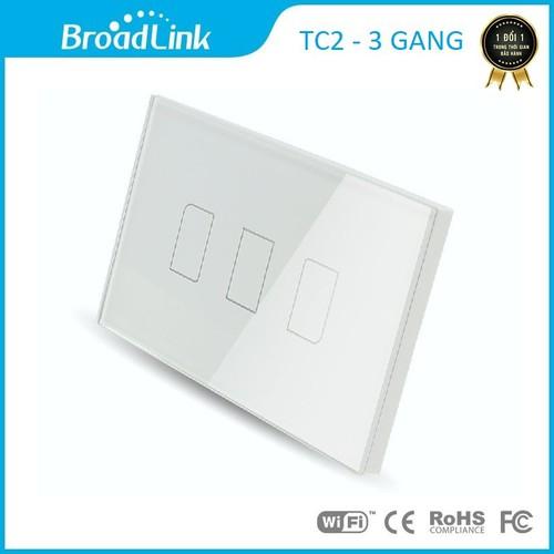 Công tắc cảm ứng điều khiển từ xa Broad link TC2 chữ nhật - 3 phím