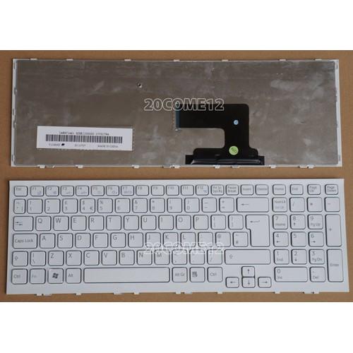 Bàn phím Laptop Sony- EH Trắng