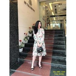 Set Áo Sơ Mi Chân Váy Hoa Hồng