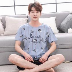 Bộ quần áo ngủ, Bộ đồ ngủ nam, đồ mặc nhà Hình Mèo - HK918