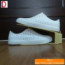 Giày Native Jefferson nhựa dẻo màu trắng, giày mùa hè rẻ đẹp
