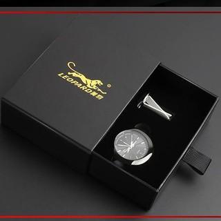 Đồng hồ đặt taplo Leopard- đồng hồ kẹp cửa gió cực đẹp - Đồng hồ trang trí thumbnail