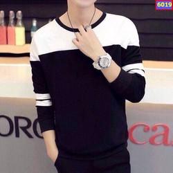 Áo thun cặp tay dài trắng đen giá sỉ