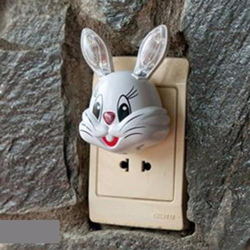 Đèn ngủ tự động đầu thỏ xinh xắn