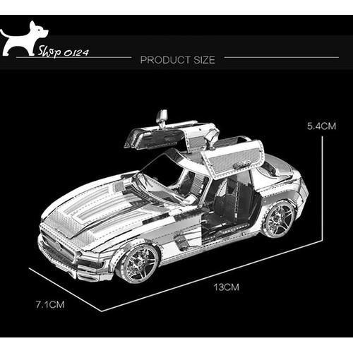 Mô hình thép 3D tự lắp Mercedes SLS AMG