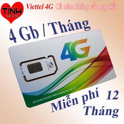Sim 4G Viettel trọn gói 1 năm D500 - Không giới hạn dung lượng D500