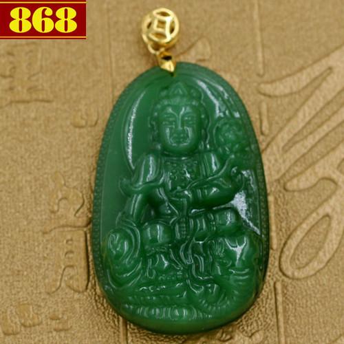 Mặt dây chuyền Bồ tát Phổ hiền ngọc tủy xanh