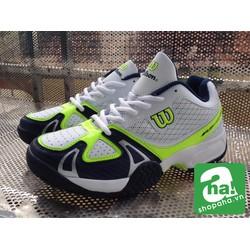 Giày Tennis Màu Trắng Xanh Lá TNK02