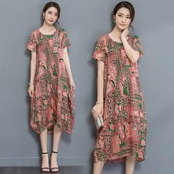Đầm suông họa tiết  cao cấp 1D2121