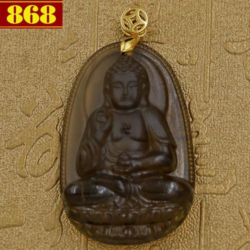 Mặt dây chuyền Phật A Di Đà Obsidian