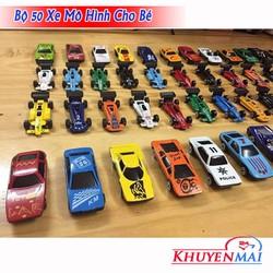 [FreeShip] Bộ xe ô tô mô hình 50 chiếc- bằng kim loại bền chắc cho bé