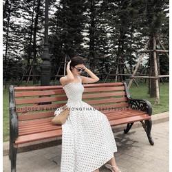 Váy maxi chấm bi