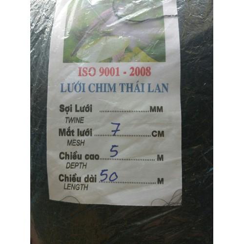 lưới bẫy chim Thái cao 5m dài 50m bẫy đủ loại