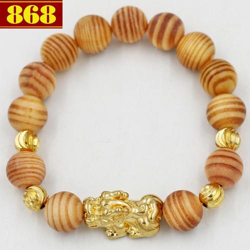 Chuỗi tay gỗ Huyết long 12 ly charm Tỳ hưu A529
