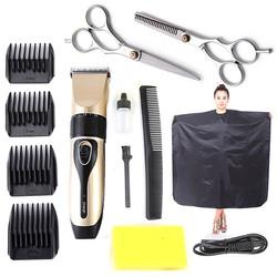 Bộ Tông Đơ Cắt Tóc BoJia kèm 2 kéo cắt kéo tỉa tặng áo choàng cắt tóc