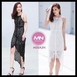 Đầm váy ôm body hai dây ren phối lưới thiết kế cao cấp